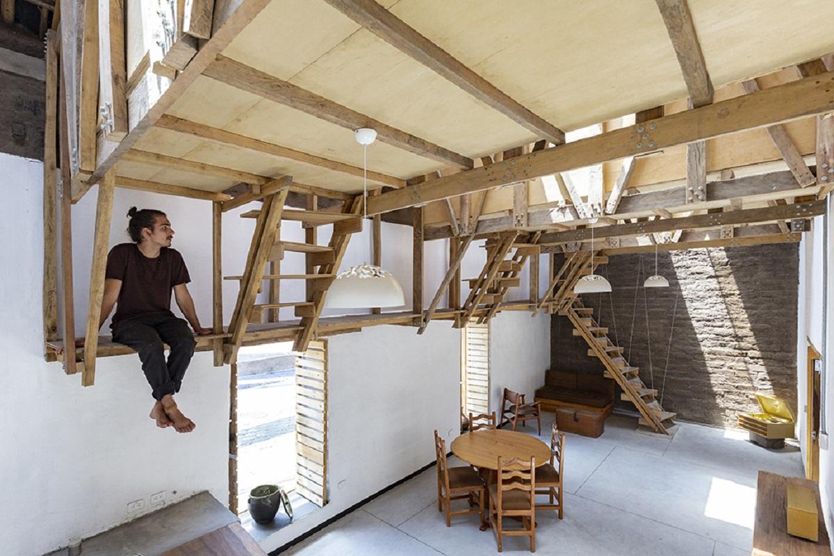 Tận dụng trần nhà cao khi cải tạo công trình
